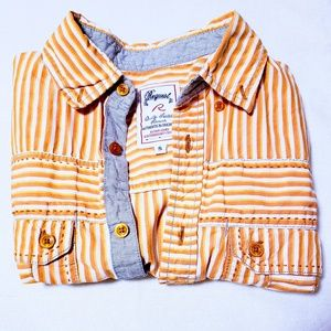 Request Shirts - Men's button down striped short sleeved shirt S🦅